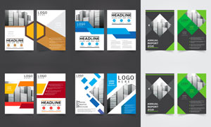 画册与彩页等页面版式设计矢量素材