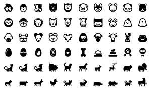 多种昆虫与小动物图标创意矢量素材