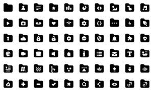 黑白色文件夾適用圖標創意矢量素材