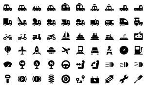 汽车交通周边图标创意设计矢量素材