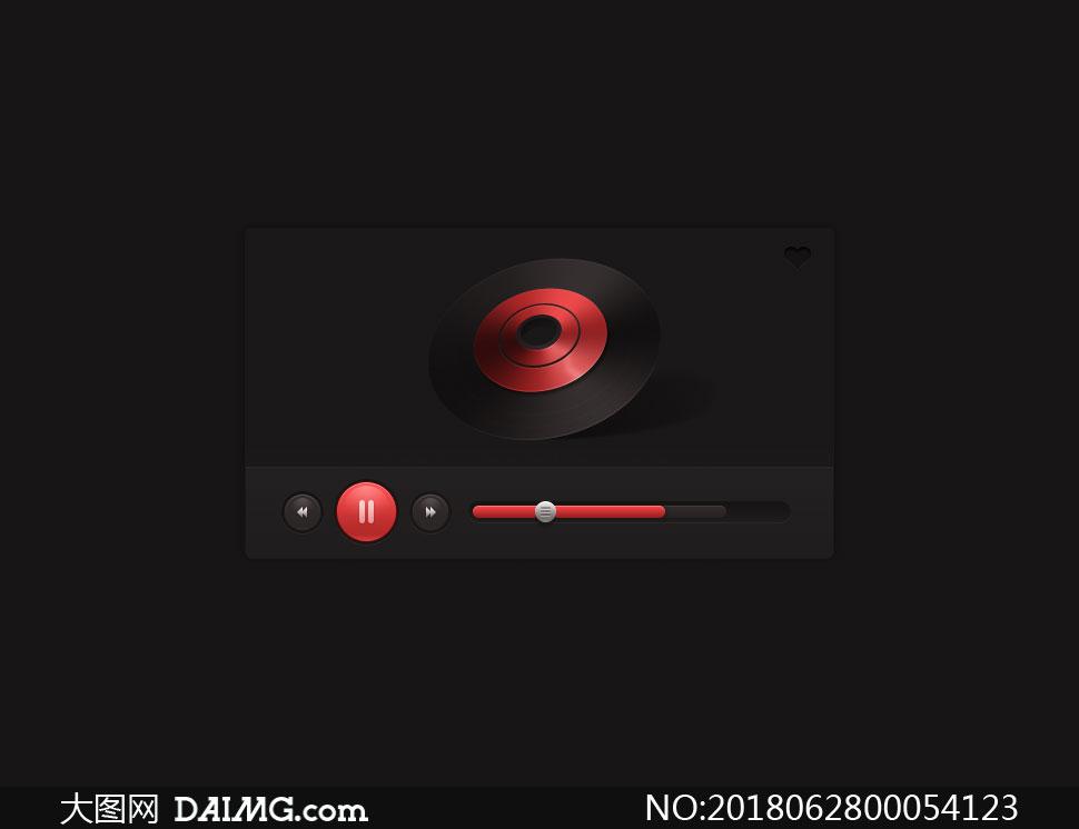 音乐播放器UI设计教程PS教程源文件
