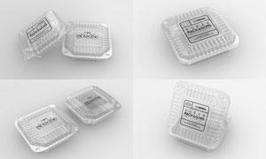透明材质食品包装贴图分层模板文件