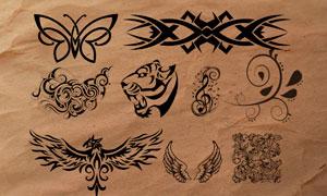 时尚复古纹身花纹装饰PS笔刷