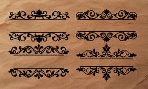 老式花纹和花边装饰PS笔刷