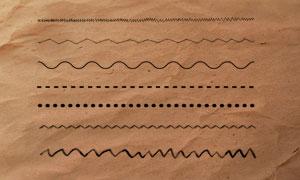 随机折线和虚线PS笔刷