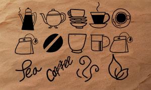 卡通风格咖啡壶PS笔刷
