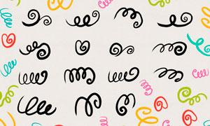 漩涡缠绕线条装饰PS笔刷