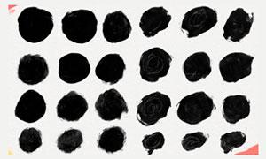 肮脏的圆形油漆涂抹PS笔刷