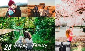 23款家庭外景照片唯美效果LR预设