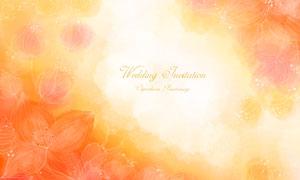線條化風格的浪漫花朵插畫分層素材