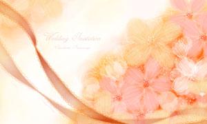 粉色浪漫唯美花朵圖案創意分層素材