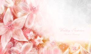 浪漫唯美风格花朵边框创意分层素材