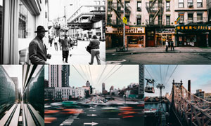 Shooter系列城市冷色和黑白效果LR预设