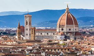 意大利佛罗伦萨建筑群风光高清图片