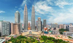 吉隆坡石油双峰塔建筑摄影高清图片