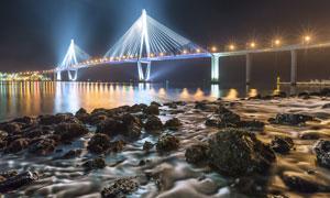 亚武兹苏丹塞利姆大桥摄影高清图片