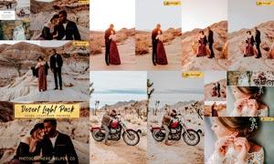 沙漠戈壁照片暗色艺术效果LR预设