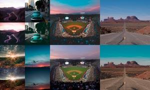 外景照片增加色彩渲染效果LR预设