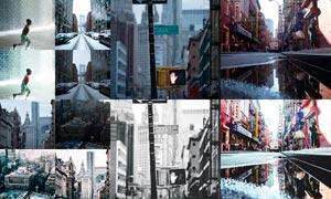 城市照片冷色艺术效果LR预设