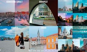 28款城市建筑照片色彩美化LR预设