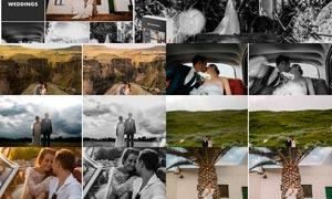婚礼照片专业黑白艺术效果LR预设