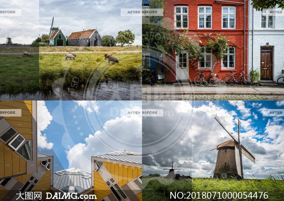 自然风景照片HDR通透效果LR预设