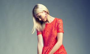 裙装服饰美女模特人物摄影高清图片
