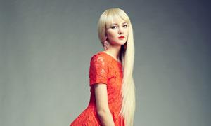 披肩金发服饰模特美女摄影高清图片