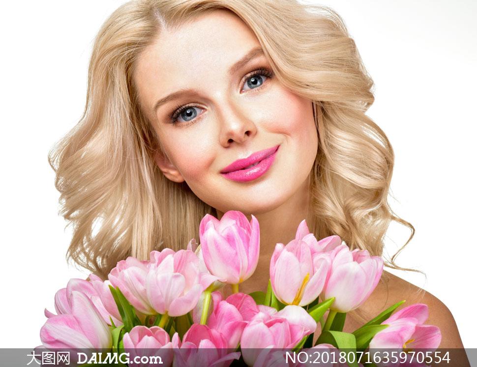 词: 高清图片大图素材摄影人物美女女人女性写真模特鲜花花朵长发秀发