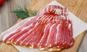 整齐摆放着的优质鲜肉摄影高清图片