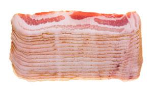 叠放好的新鲜生肉特写摄影高清图片