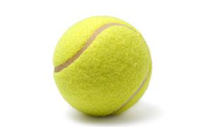 一枚黄色网球近景特写摄影高清图片
