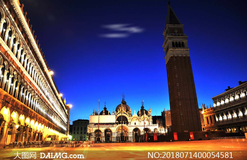 夜景夜幕降临欧式建筑灯火辉煌旅游摄影国外旅游高清摄影大图图片素材