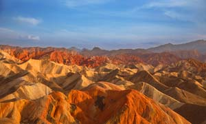 张掖丹霞地貌美丽风景摄影图片