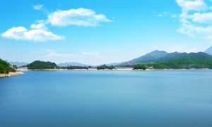 电白罗坑水库美丽风光摄影图片