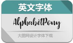 AlphabetPony-Regular(英文字体)