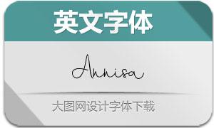 Annisa(英文字体)