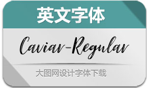 Caviar-Regular(英文字体)