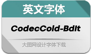 CodecCold-BoldItalic(英文字体)