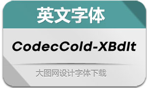 CodecCold-ExtraBdIt(英文字体)