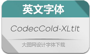 CodecCold-ExtraLtIt(英文字体)