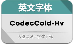 CodecCold-Heavy(英文字体)