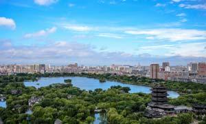 大明湖美丽风景摄影图片