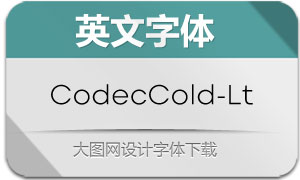 CodecCold-Light(英文字体)