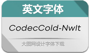 CodecCold-NewsItalic(英文字体)