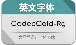 CodecCold-Regular(英文字体)