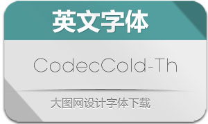 CodecCold-Thin(英文字体)