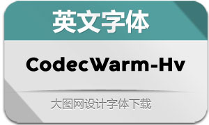 CodecWarm-Heavy(英文字体)