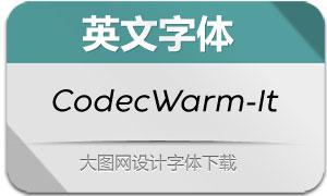 CodecWarm-Italic(英文字体)