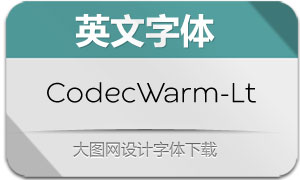 CodecWarm-Light(英文字体)